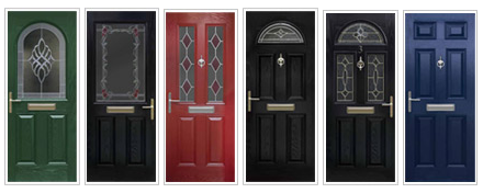 A selection of composite doors