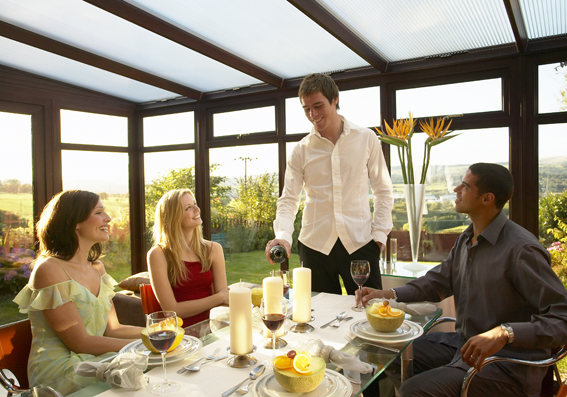 Conservatories are great spaces for entertaining