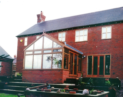 An example of a gable end style conservatory