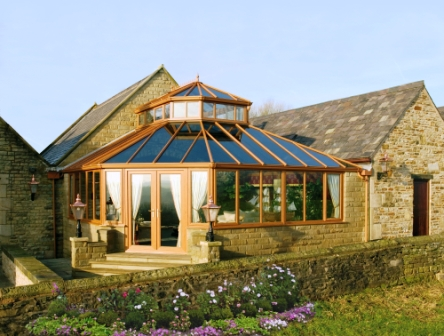 An example of a latern style conservatory