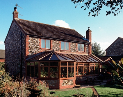 An example of a p-shape style conservatory